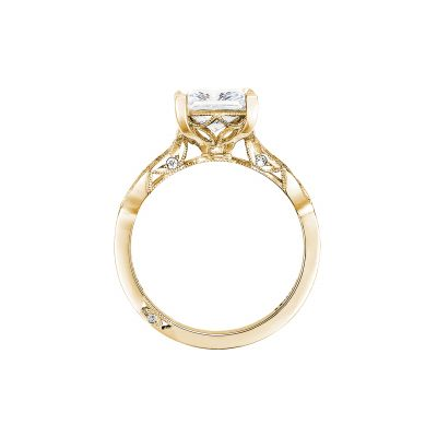 Tacori 2648PR55-Y Yellow Gold Princess Cut Engagement Ring side