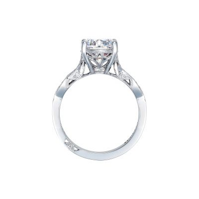 Tacori 2648RD White Gold Round Engagement Ring side