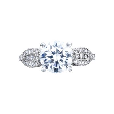 Tacori 2648RD65 Ribbon Platinum Round Engagement Ring
