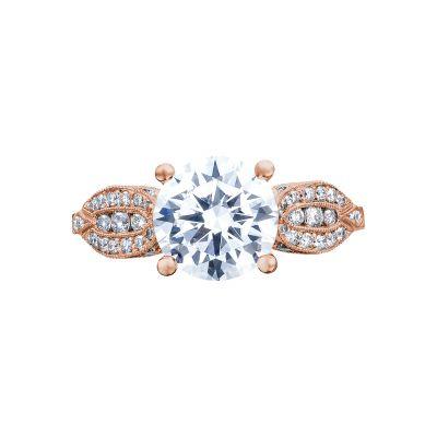Tacori 2648RD65PK Ribbon Rose Gold Round Engagement Ring
