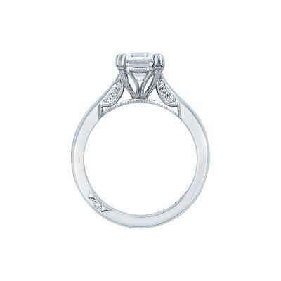 Tacori 2650EC White Gold Emerald Cut Engagement Ring side