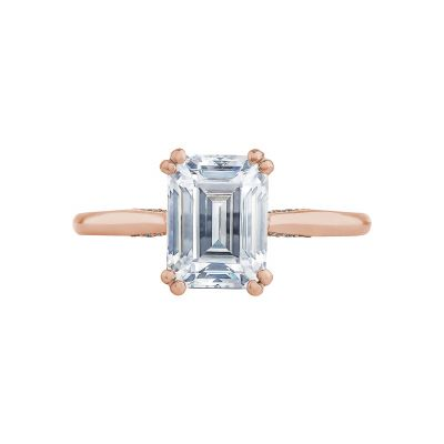 Tacori 2650EC85X65-PK Simply Tacori Rose Gold Emerald Cut Engagement Ring