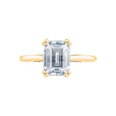 Tacori 2650EC85X65-Y Simply Tacori Yellow Gold Emerald Cut Engagement Ring