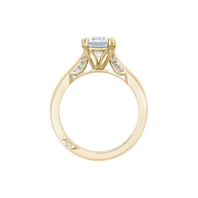 Tacori 2650EC85X65-Y Yellow Gold Emerald Cut Engagement Ring side