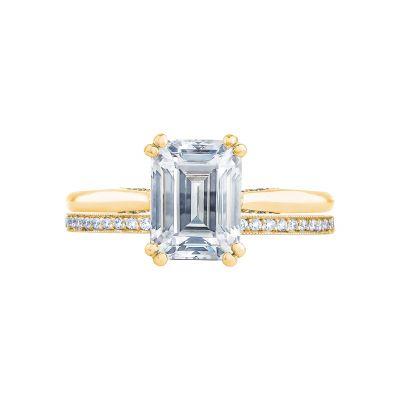 Tacori 2650EC85X65-Y Yellow Gold Emerald Cut Solitaire Engagement Ring set