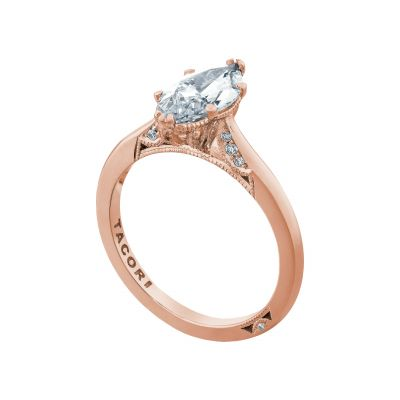 Tacori 2650MQ12X6-PK Rose Gold Marquise Solitaire Engagement Ring angle