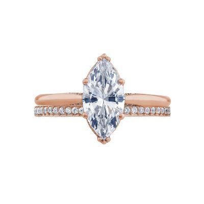Tacori 2650MQ12X6-PK Rose Gold Marquise Solitaire Engagement Ring set
