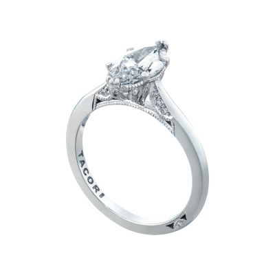Tacori 2650MQ12X6 Platinum Marquise Solitaire Engagement Ring angle