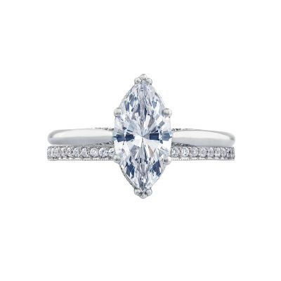 Tacori 2650MQ12X6 Platinum Marquise Solitaire Engagement Ring set