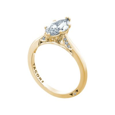 Tacori 2650MQ12X6-Y Yellow Gold Marquise Solitaire Engagement Ring angle