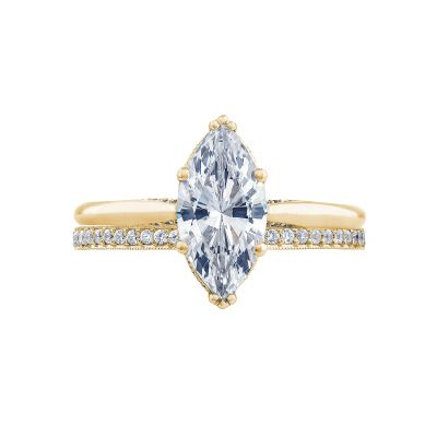 Tacori 2650MQ12X6-Y Yellow Gold Marquise Solitaire Engagement Ring set