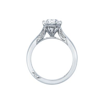Tacori 2650OV White Gold Oval Engagement Ring side