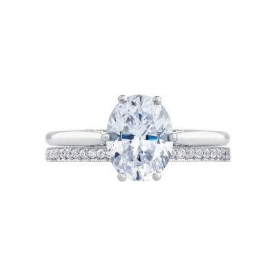 Tacori 2650OV White Gold Oval Solitaire Engagement Ring set