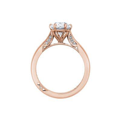 Tacori 2650OV9X7-PK Rose Gold Oval Engagement Ring side