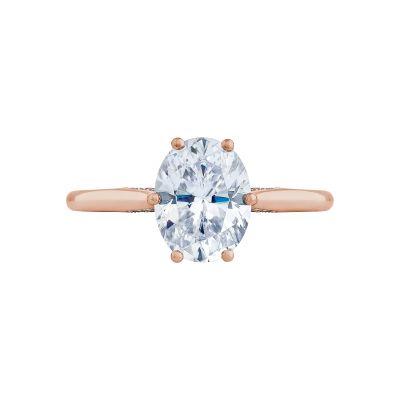 Tacori 2650OV9X7-PK Simply Tacori Rose Gold Oval Engagement Ring