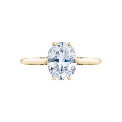 Tacori 2650OV9X7-Y Simply Tacori Yellow Gold Oval Engagement Ring