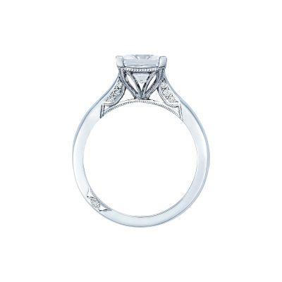 Tacori 2650PR White Gold Princess Cut Engagement Ring side