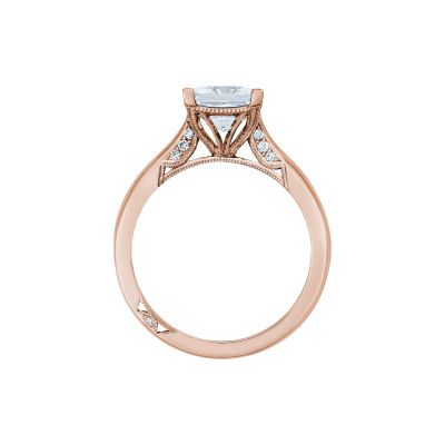 Tacori 2650PR7-PK Rose Gold Princess Cut Engagement Ring side