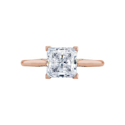 Tacori 2650PR7-PK Simply Tacori Rose Gold Princess Cut Engagement Ring
