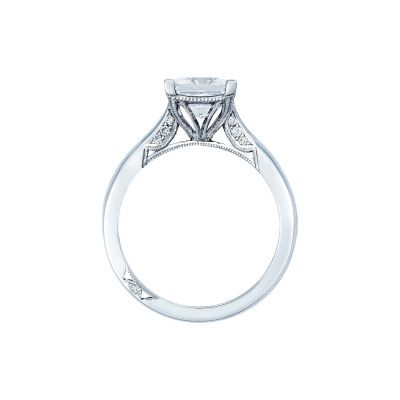 Tacori 2650PR7 Platinum Princess Cut Engagement Ring side