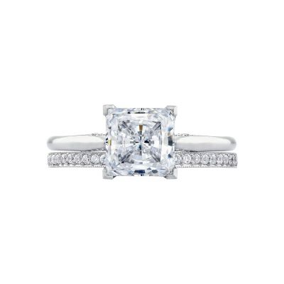 Tacori 2650PR7 Platinum Princess Cut Solitaire Engagement Ring set