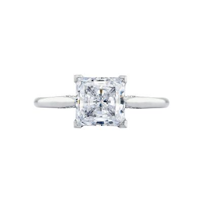 Tacori 2650PR7 Simply Tacori Platinum Princess Cut Engagement Ring