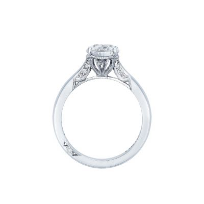 Tacori 2650PS White Gold Oval Engagement Ring side