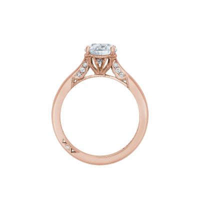 Tacori 2650PS10X7-PK Rose Gold Oval Engagement Ring side