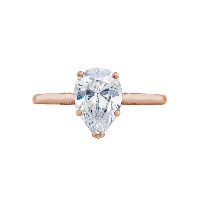Tacori 2650PS10X7-PK Simply Tacori Rose Gold Oval Engagement Ring