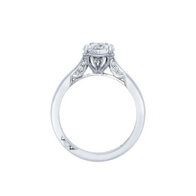 Tacori 2650PS10X7 Platinum Oval Engagement Ring side