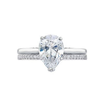 Tacori 2650PS10X7 Platinum Oval Solitaire Engagement Ring set