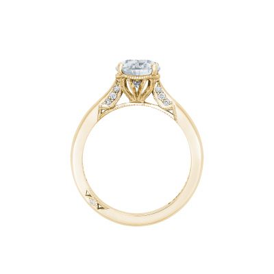 Tacori 2650PS10X7-Y Yellow Gold Oval Engagement Ring side