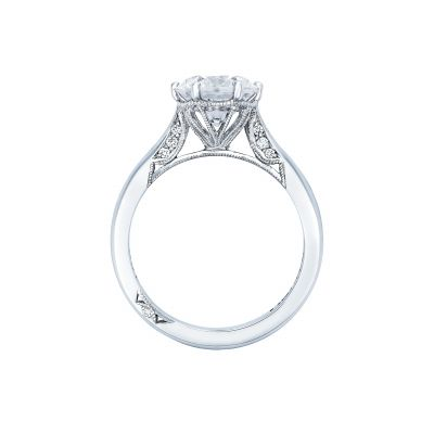 Tacori 2650RD White Gold Round Engagement Ring side