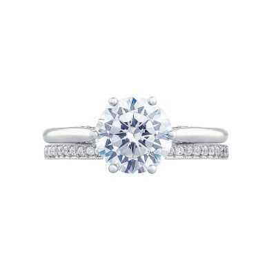 Tacori 2650RD White Gold Round Solitaire Engagement Ring set