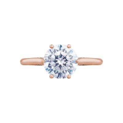 Tacori 2650RD8-PK Simply Tacori Rose Gold Round Engagement Ring