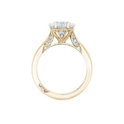 Tacori 2650RD8-Y Yellow Gold Round Engagement Ring side
