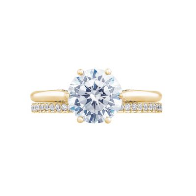 Tacori 2650RD8-Y Yellow Gold Round Solitaire Engagement Ring set