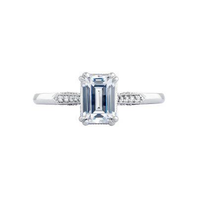 Tacori 2651EC Simply Tacori White Gold Emerald Cut Engagement Ring