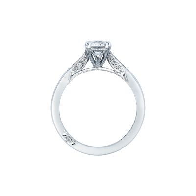 Tacori 2651EC White Gold Emerald Cut Engagement Ring side