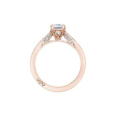 Tacori 2651EC7X5-PK Rose Gold Emerald Cut Engagement Ring side