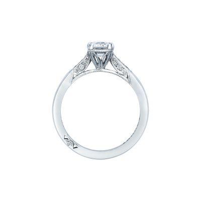 Tacori 2651EC7X5 Platinum Emerald Cut Engagement Ring side
