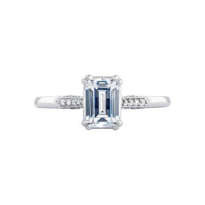 Tacori 2651EC7X5 Simply Tacori Platinum Emerald Cut Engagement Ring