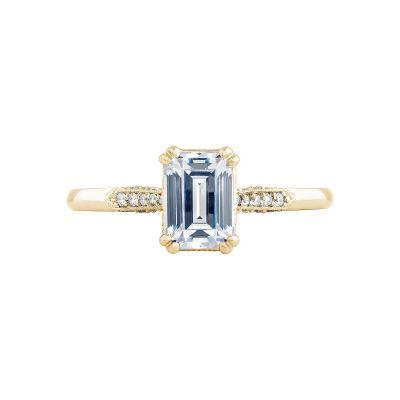Tacori 2651EC7X5-Y Simply Tacori Yellow Gold Emerald Cut Engagement Ring