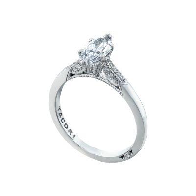 Tacori 2651MQ10X5 Platinum Marquise Simple Engagement Ring angle
