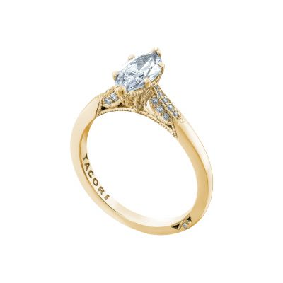 Tacori 2651MQ10X5-Y Yellow Gold Marquise Unique Engagement Ring angle