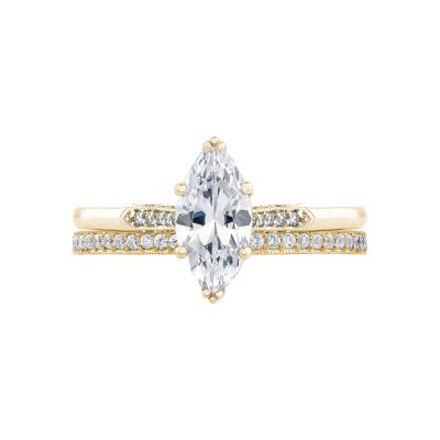 Tacori 2651MQ10X5-Y Yellow Gold Marquise Unique Engagement Ring set