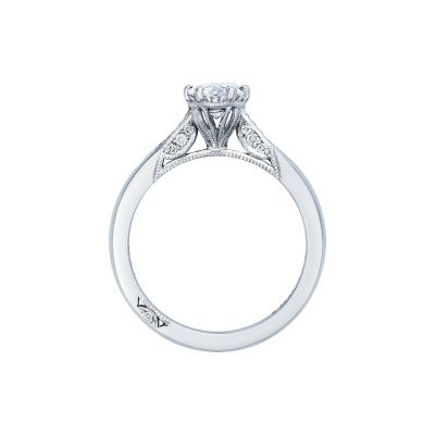 Tacori 2651OV White Gold Oval Engagement Ring side