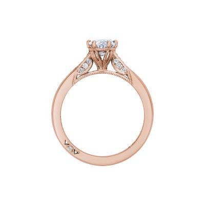 Tacori 2651OV75X55-PK Rose Gold Oval Engagement Ring side