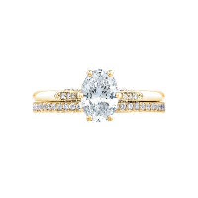 Tacori 2651OV75X55-Y Yellow Gold Oval Classic Engagement Ring set