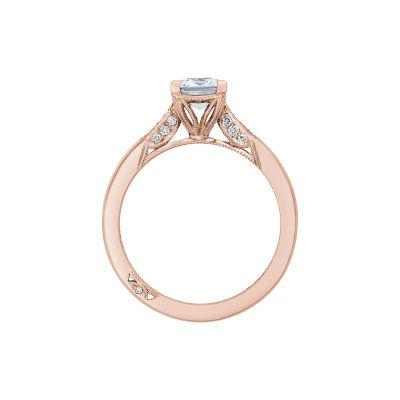 Tacori 2651PR55-PK Rose Gold Princess Cut Engagement Ring side